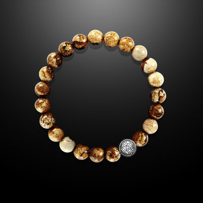 Earth Spirit Spiritual Bead Bracelet - Jasper 8mm - Courage and Determination