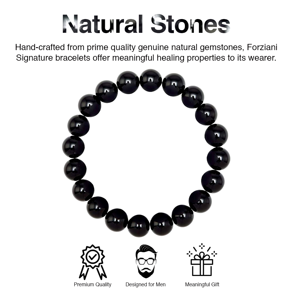 Black Onyx Beaded Bracelet for Men - Truth and Strength