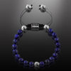 Navy Blue Lapis Beaded Bracelet for Men - Summit Series