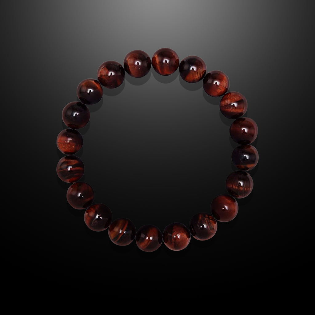 Tiger Iron Beaded Bracelet for Men - Stamina and Courage