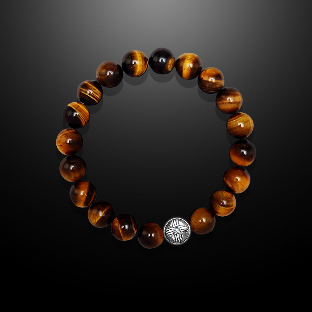 Tiger's Eye Beaded Bracelet for Men - Strength and Confidence