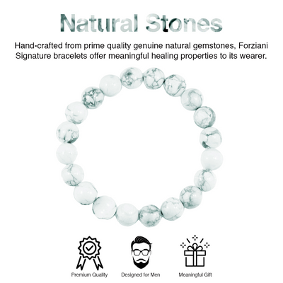 Sir Paul McCartney Uplift and Rejuvenate White Howlite Bracelet