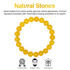 Yellow Jade Beaded Bracelet for Men - Energy and Endurance