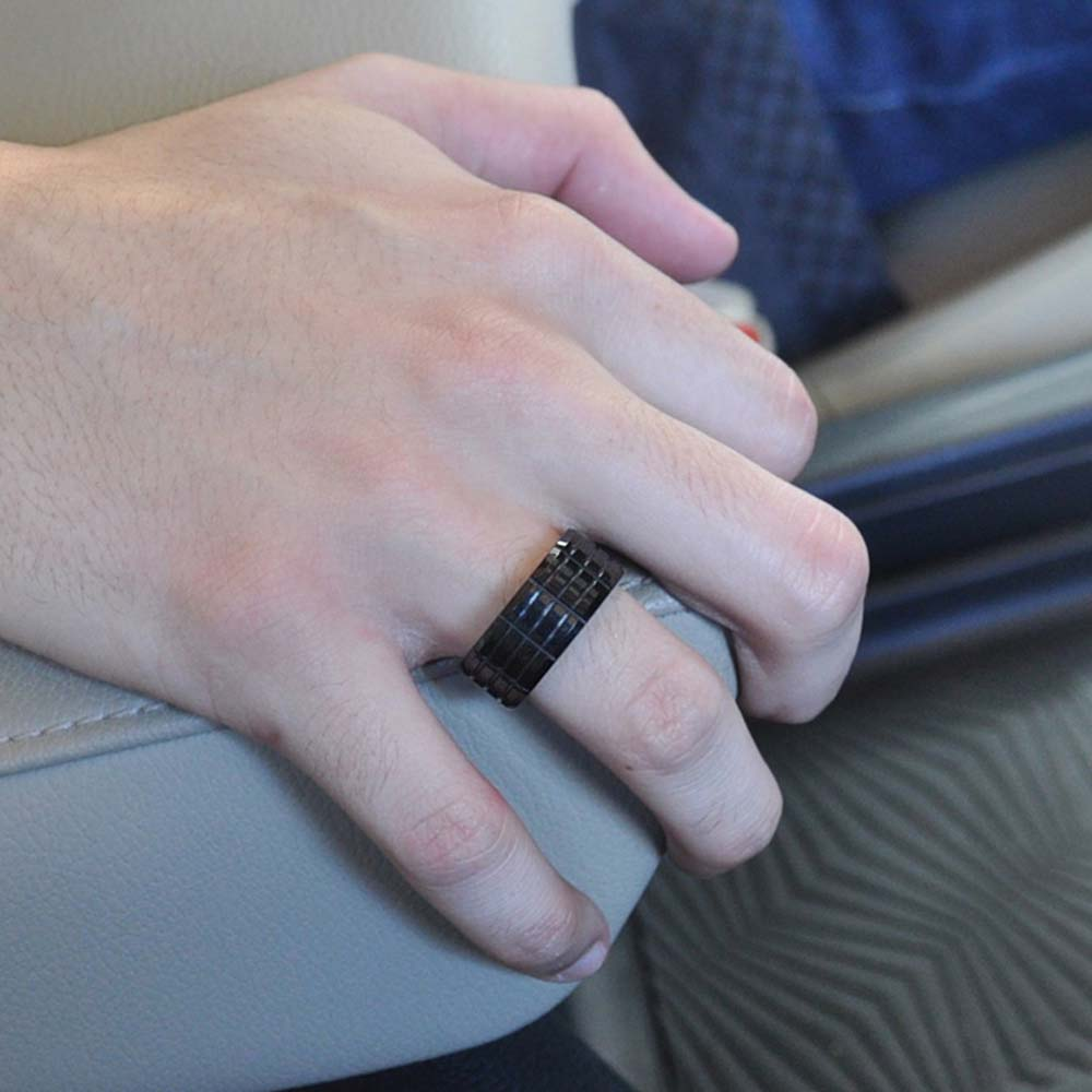 Hilt Tungsten Black Band Ring for Men