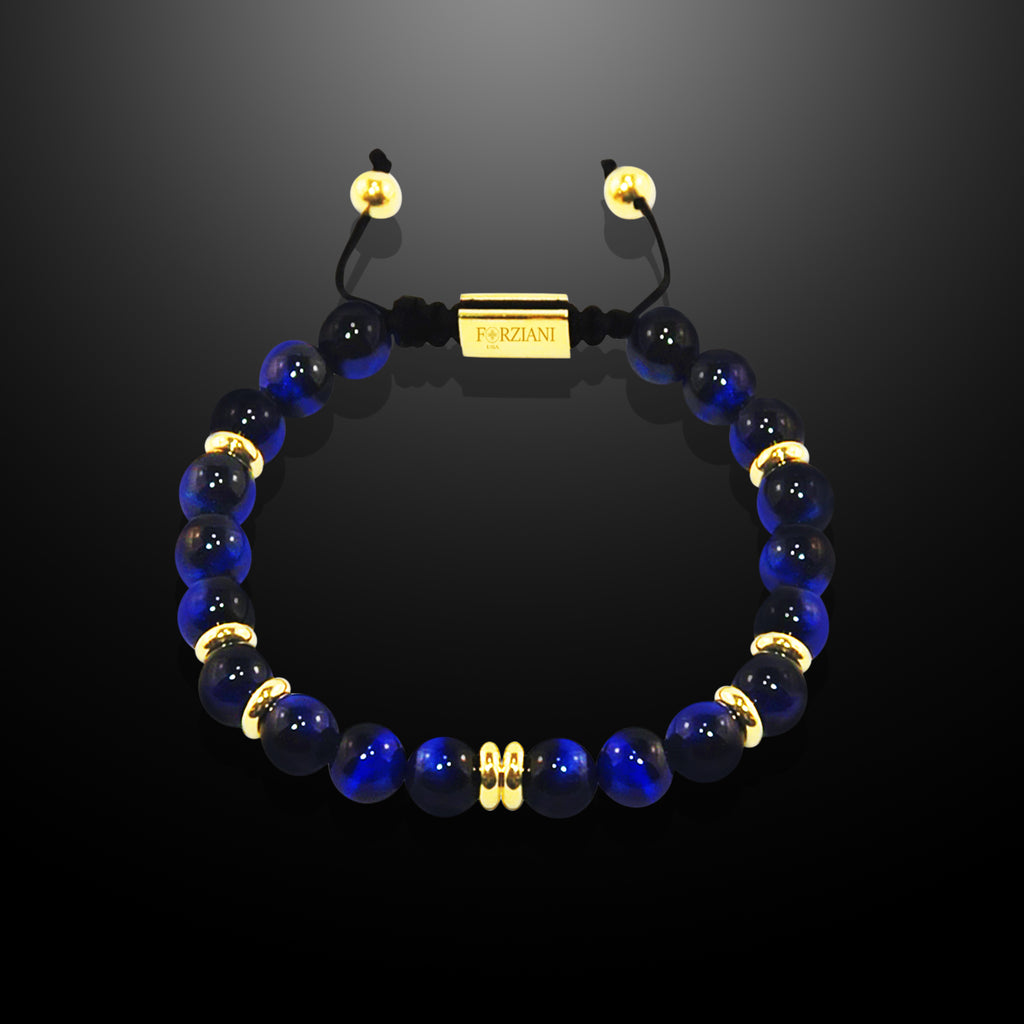 Prism Power Beads Bracelet in Blue Tiger Eye