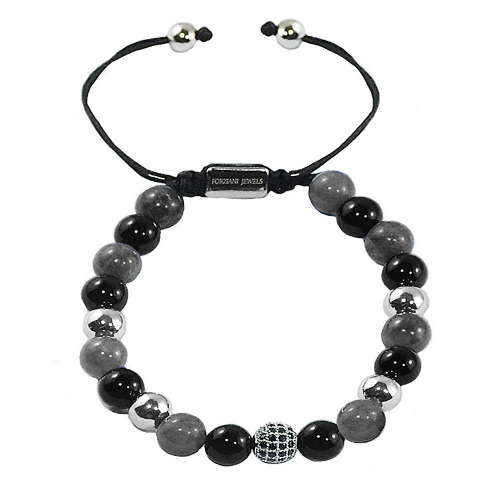 Prism Power Beads Bracelet in Labradorite and Black Onyx