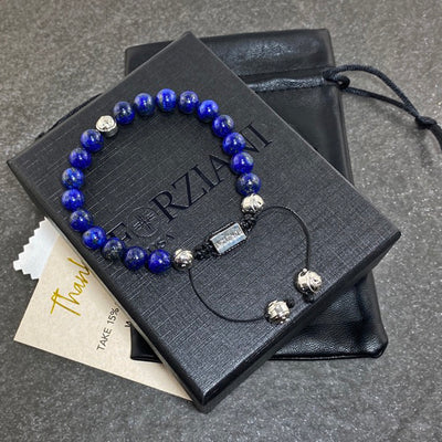 Prism Power Beads Bracelet in Lapis Lazuli