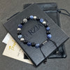 Prism Power Beads Bracelet in Lapis Lazuli and Black Onyx