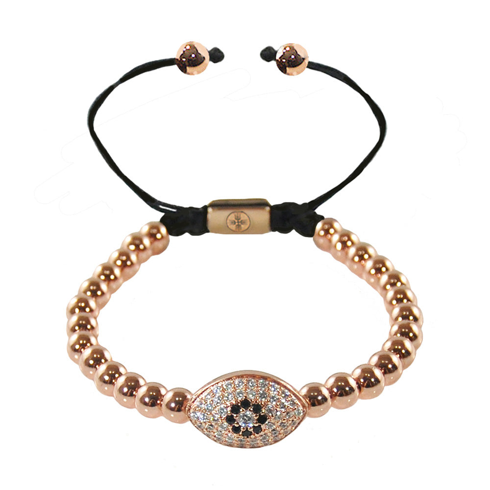 Pumped Evil Eye Beaded Bracelet