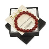 Red Onyx Beaded Bracelet for Men - Vitality and Happiness