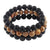 'Salt Life' Men's Lava, Jasper and Black Onyx Beaded Bracelet Set of 3