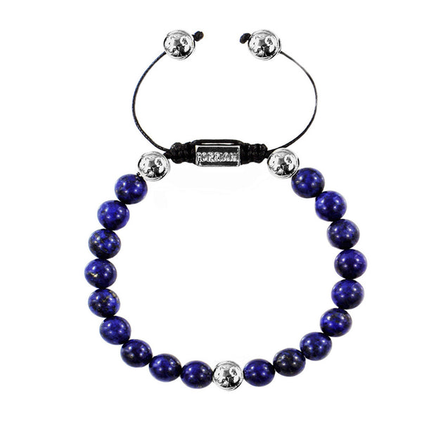 Summit Navy Blue Lapis Bead Bracelet for Men - Forziani -  1