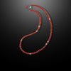 Mens Beaded Necklace with Red Coral Jasper and Silver - Summit Series