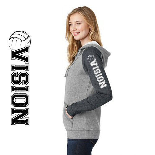 DT296 District® Juniors Lightweight Fleece Raglan Hoodie