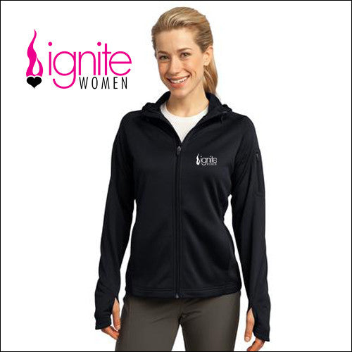 Ignite L248 Sport-Tek® Ladies Tech Fleece Full-Zip Hooded Jacket