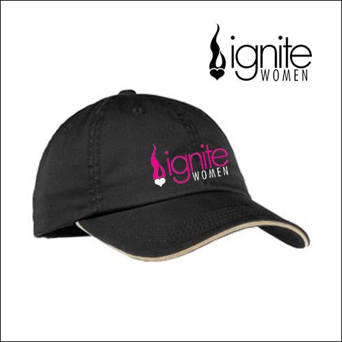 Ignite LC830 Port Authority® Ladies Sandwich Bill Cap with Striped Closure