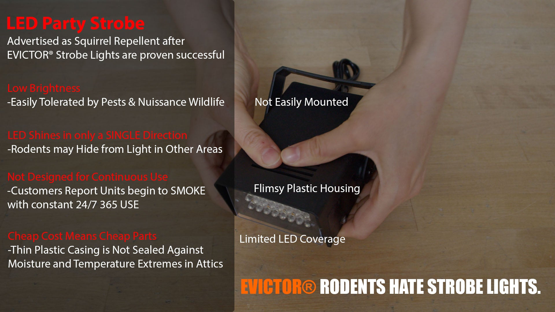 Evictor vs Party Strobes