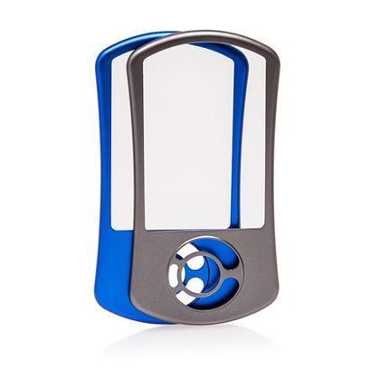 Cobb Access Port interchangeable face plates in blue and gray