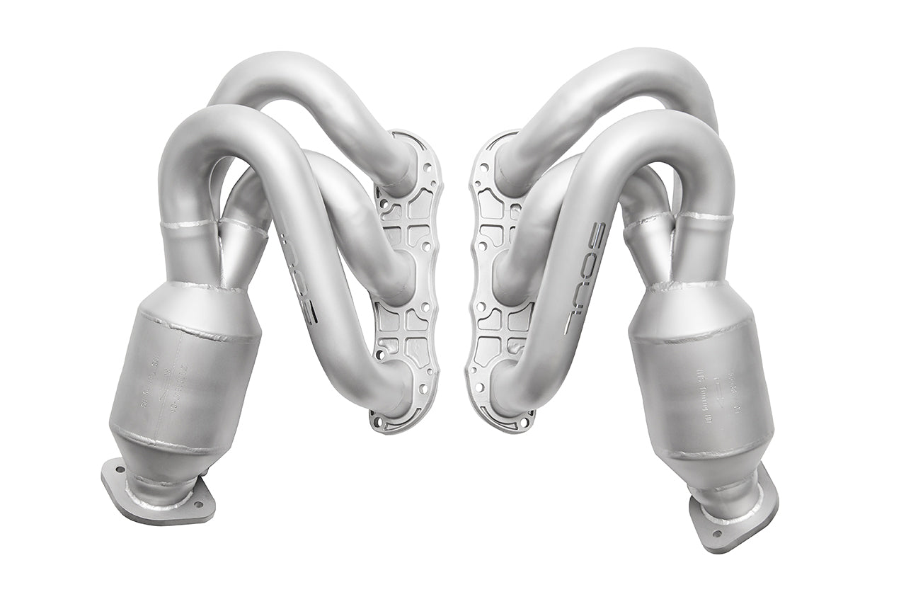 Porsche 981 Cayman / Boxster Long Tube Street Headers (w/ HJS 200 cell catalytic converters)