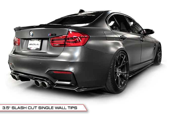 BMW F80 and F82 M3 / M4 (Non-Resonated, Slash Cut with Rear Diffuser)