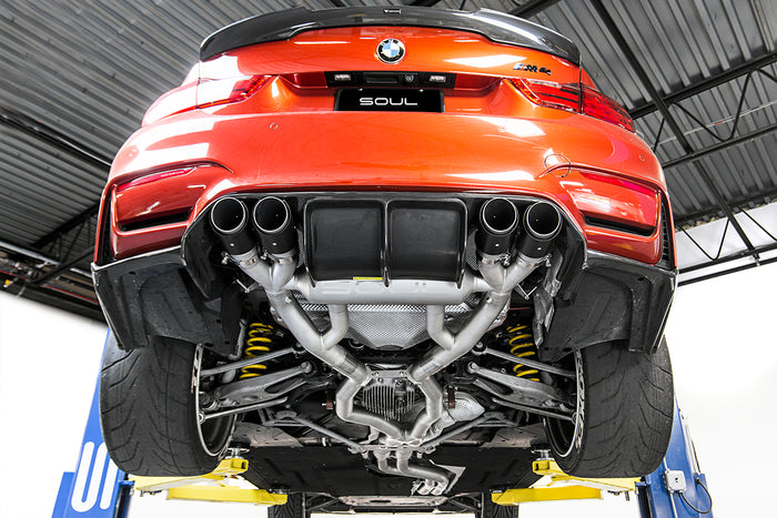 BMW F80 M3 / F82 M4 Valved Exhaust System (Resonated, Slash Cut)