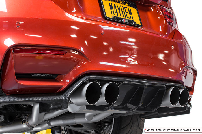 BMW F80 and F82 M3 / M4 (Resonated, Slash Cut Tips with Rear Diffuser)