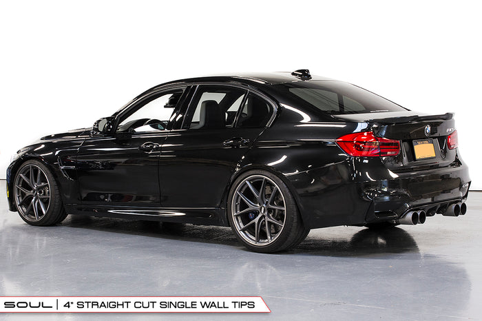 BMW F80 and F82 M3 / M4 (Resonated, Straight Cut Tips with Rear Diffuser)