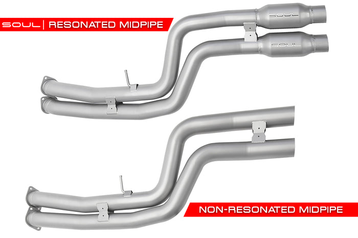 BMW F80 M3 / F82 M4 Valved Exhaust System (Resonated, Straight Cut)