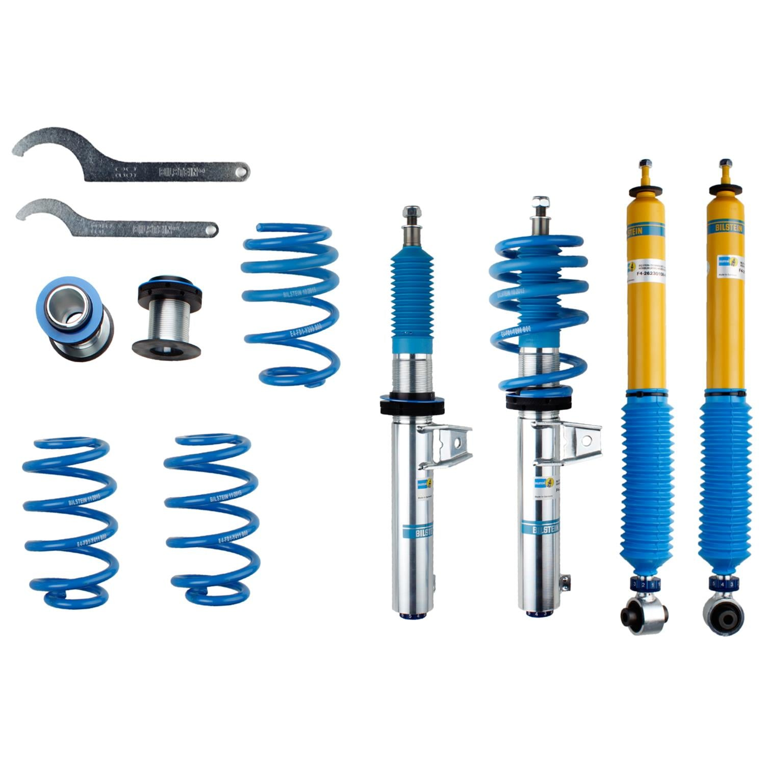 Bilstein B16 (PSS10) Golf R Front & Rear Performance Suspension System