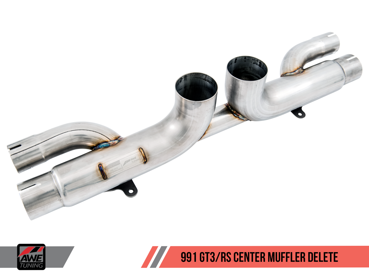 Porsche 991 GT3 / RS AWE Tuning Exhaust W/ Center Muffler Delete