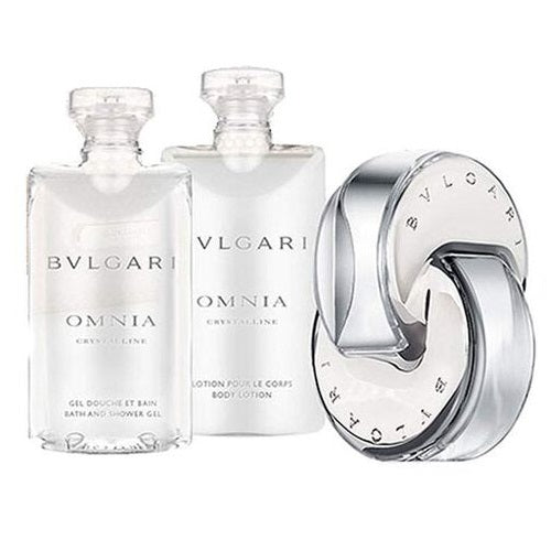 Bvlgari Omnia Crystalline Gift Set 40ml EDT + Body Lotion 40ml + Bath & Shower Gel 40ml