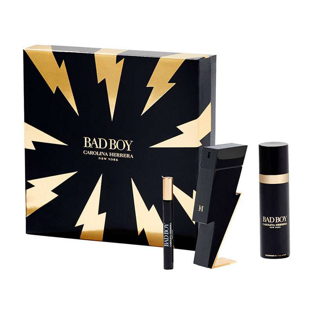 Carolina Herrera Bad Boy Gift Set 50ml EDT + 10ml EDT + Deodorant Spray 100ml
