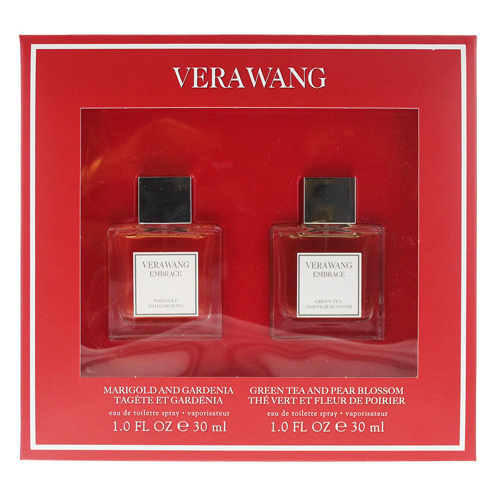 Vera Wang Embrace Gift Set Marigold and Gardenia 30ml EDT + Green Tea and Pear Blossom 30ml EDT