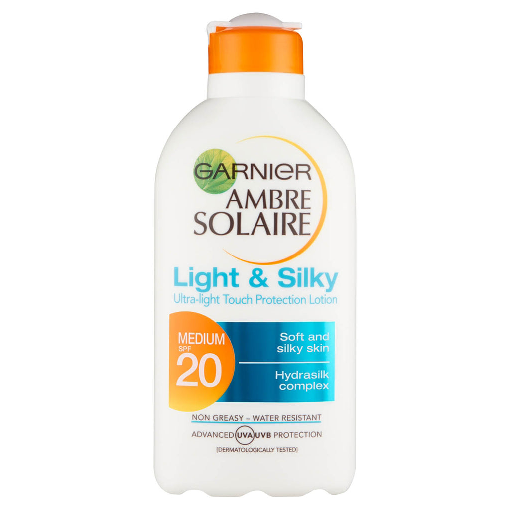 Garnier Ambre Solaire Light and Silky Sun Cream SPF20 200ml