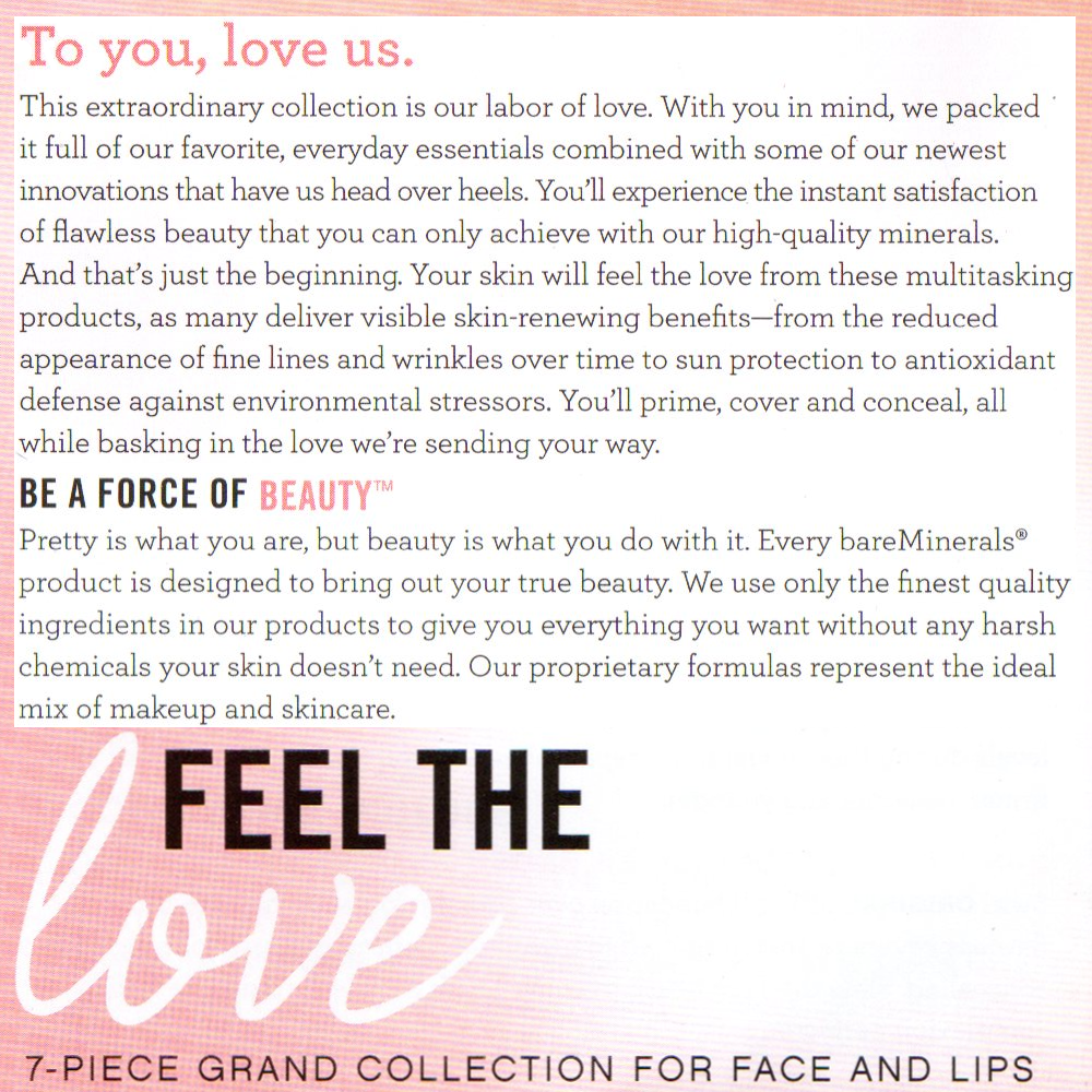 bareMinerals Feel The Love 7-Piece Grand Collection for Face and Lips - Fair