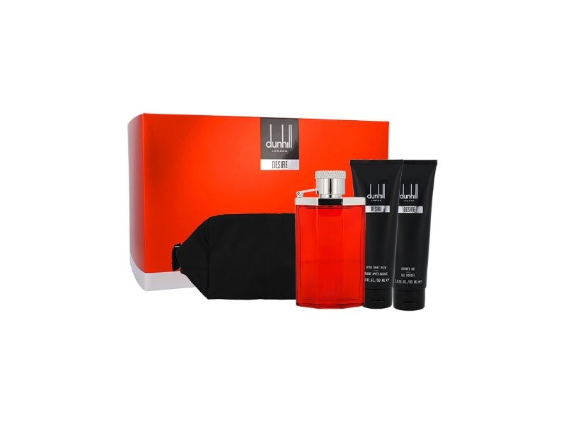 Dunhill Desire Gift Set 100ml EDT + 90ml Shower Gel + 90ml Aftershave Balm + Bag