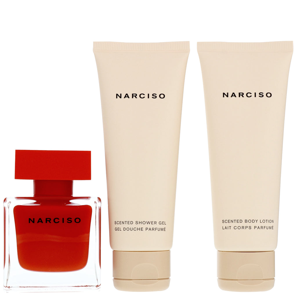 Narciso Rodriguez Rouge 50ml EDP + 50ml Body Lotion + 50ml Shower Gel