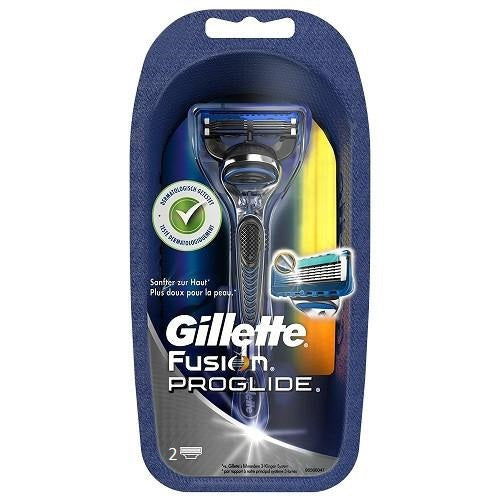 Gillette Fusion Proglide Manual Razor With 2 Blades - Look Incredible
