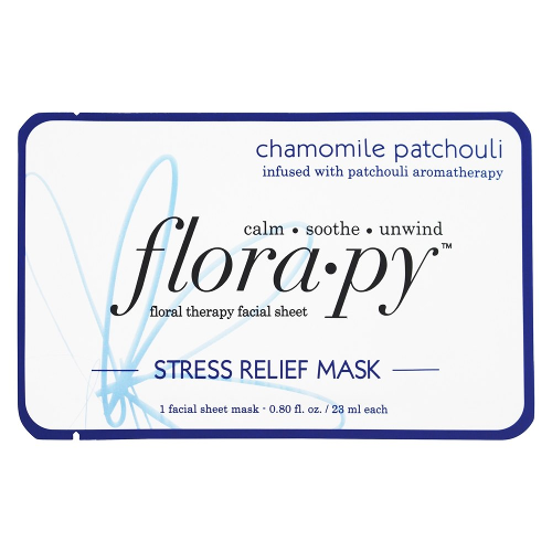 Florapy Floral Therapy Facial Sheet Stress Relief Mask Chamomile Patchouli