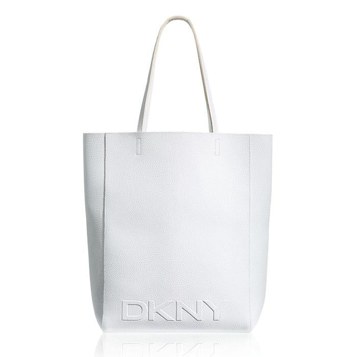DKNY Womens White Large Shopping / Tote Bag