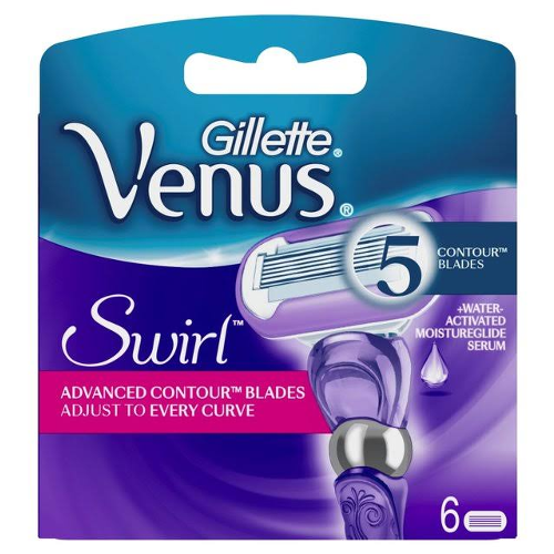 Gillette Venus Swirl Women's 6 Razor Blade Refills - Look Incredible