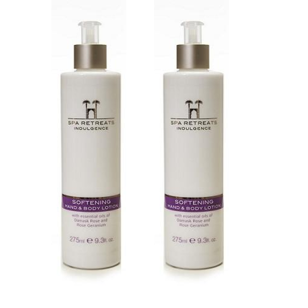 Spa Retreats Indulgence Softening Hand & Body Lotion 275ml (Set of 2)