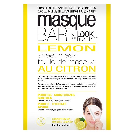 MasqueBAR Lemon Sheet Mask