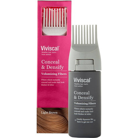Viviscal Conceal & Densify Volumizing Fibers - Light Brown