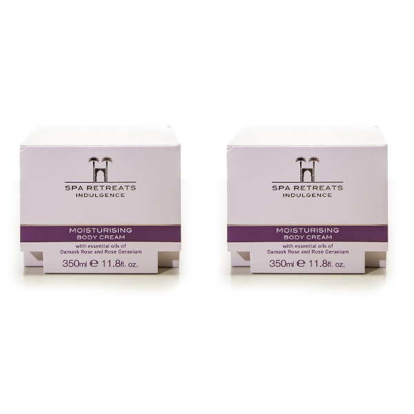Spa Retreats Indulgence Moisturising Body Cream 350ml (Set of 2)