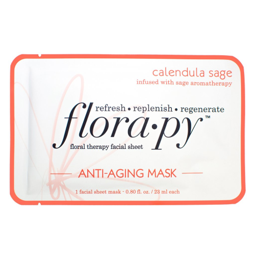 Florapy Floral Therapy Facial Sheet Anti-Aging Mask Calendula Sage