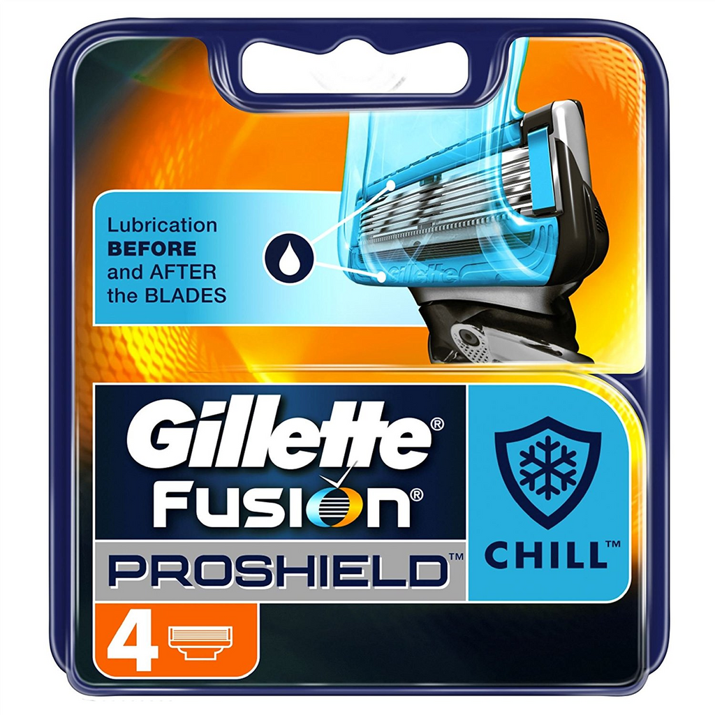 Gillette Fusion Proshield Chill Razor Blades Pack of 4