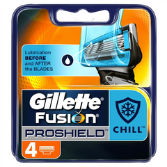 Gillette Fusion Proshield Chill Razor Blades - Pack of 4