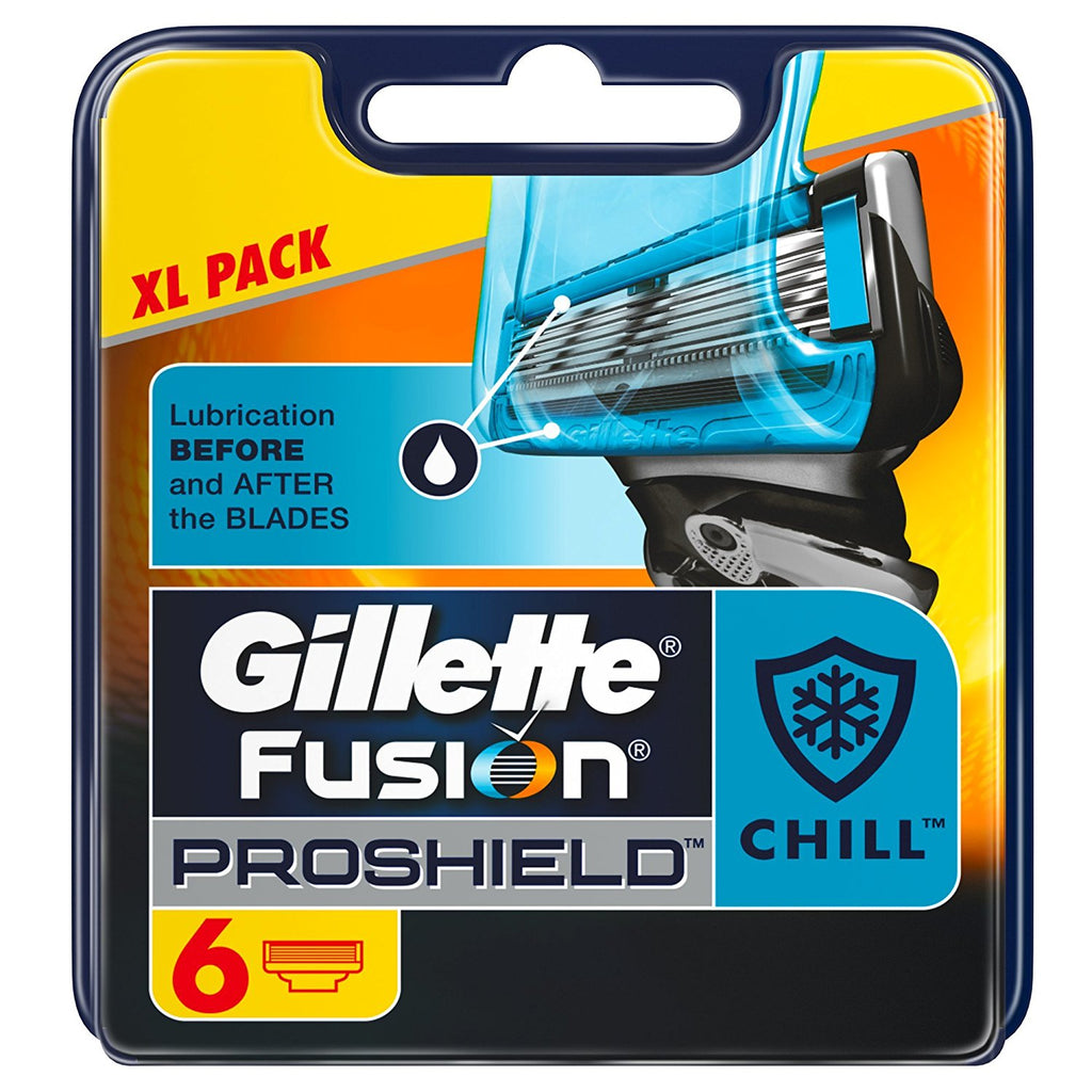 Gillette Fusion Proshield Chill Razor Blades - Pack of 6 - Look Incredible