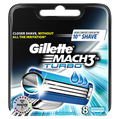 Gillette Mach 3 Turbo Men's Razor Blades 8 Refills